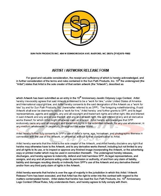 Doc8001132 Artwork Release Form Artist release forms 80 – Artist Release Form